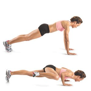 Push up knee to knee