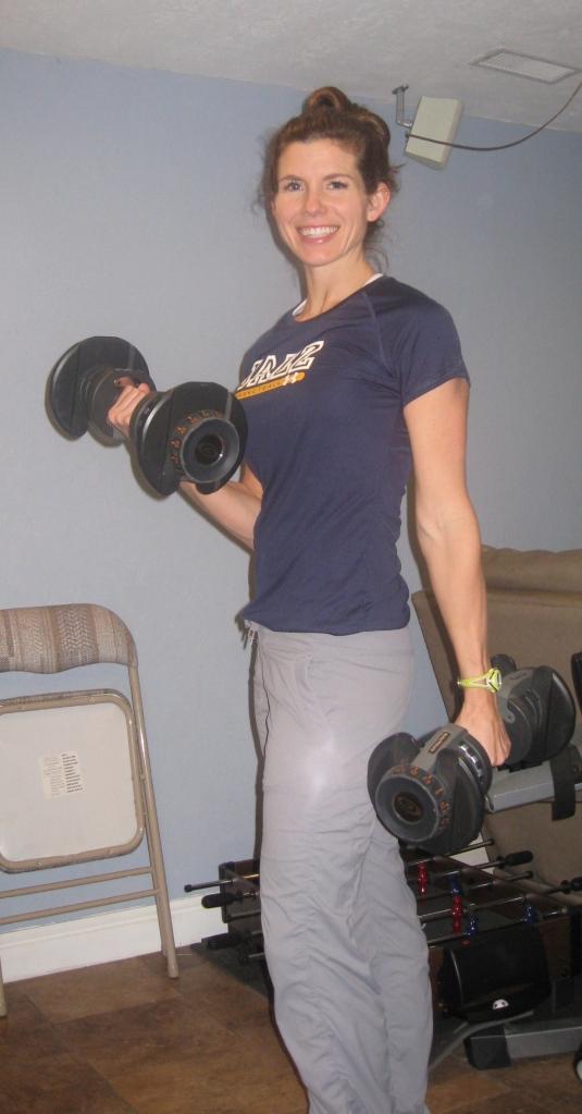 Nautilus adjustable barbells.