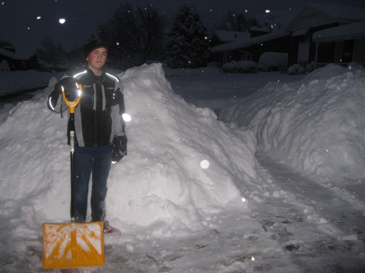 Awesome son!  He got up before everyone else and started shoveling!