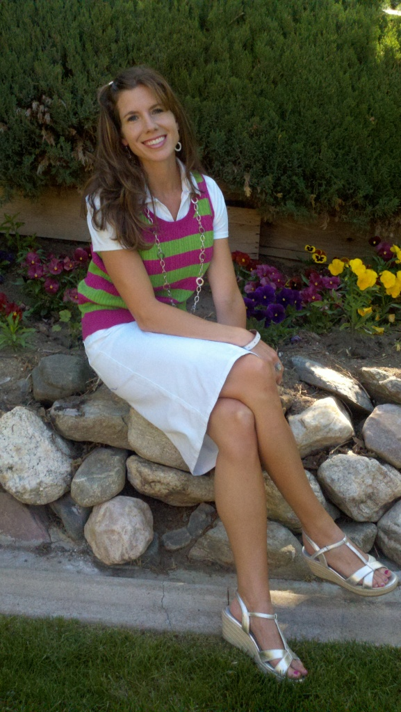 Talbots outfit, Boden shoes